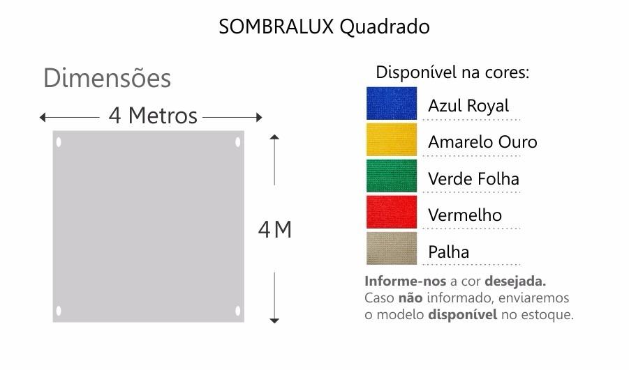 Lona Capa Tela De Sombreamento 90%uv Quadrado Sombralux - R$ 675,20 ...