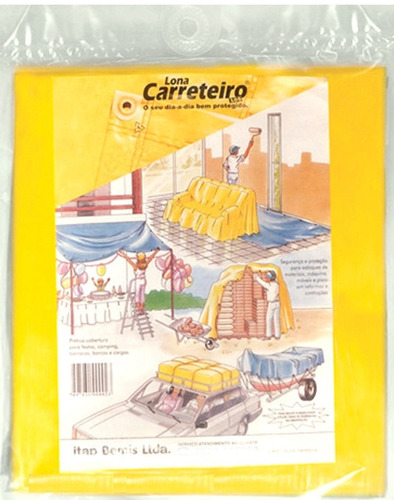 lona carreteiro amarela festa evento piscina toldo itap 6x4