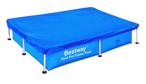Lona cobertor cubre piscina rectangular 304 x 205 bestway for Cubre piscina bestway