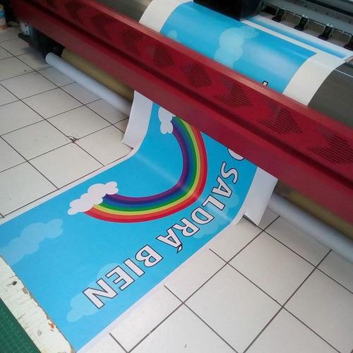 lona de 1 x 1 metros cuadrados impreso a gran formato