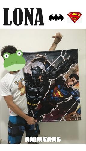 lona de batman vs superman para colgar - animeras