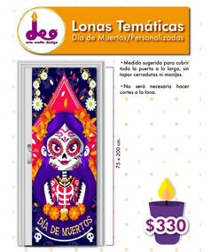 Lona Decorativa Adorno Puertas Día De Muertos Fiesta