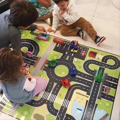 lona didáctica para niños modelo pista