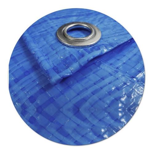 lona encerado 4x3 m impermeável multiuso construção azul
