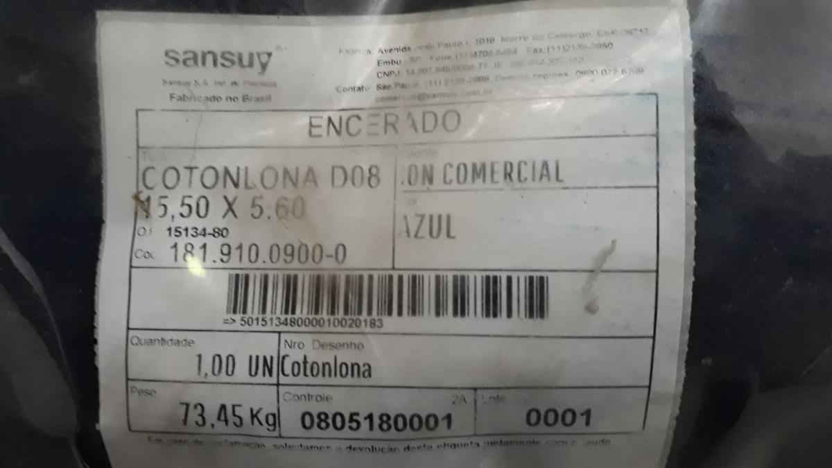 012b36ce35 Lona Encerado De Algodão Azul Sansuy Fio 8 15