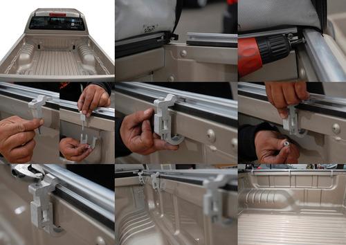 lona estruc aluminio toyota hilux 05/15 cab doble c/barra mu