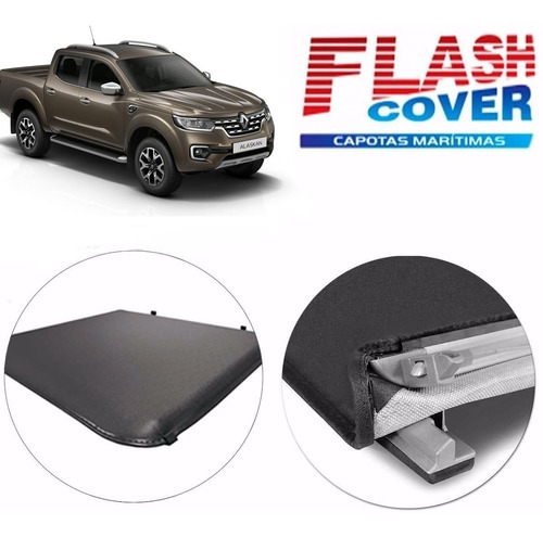 lona estructura aluminio flash cover force renault alaskan