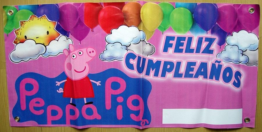 Lona feliz cumplea os peppa pig todo para tu fiesta - Todo para fiestas de cumpleanos ...