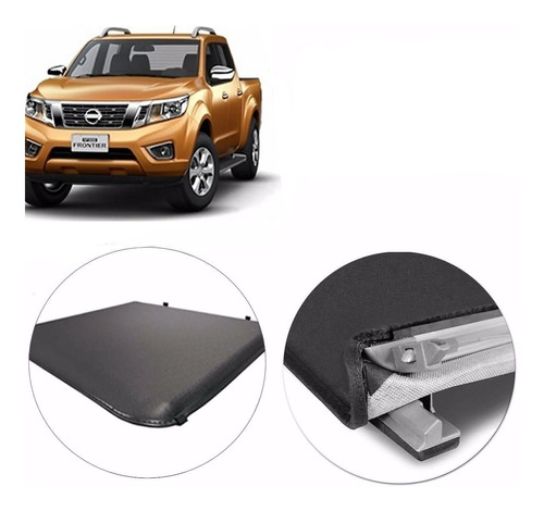 lona flash cover p/ nissan frontier 2016 2017 2018 2019 2020