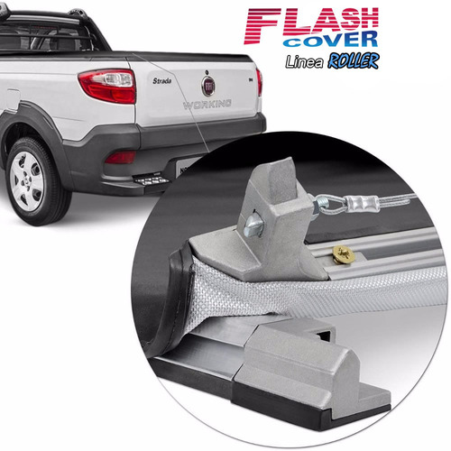 lona flash cover roller fiat strada doble simple 2014 a 2019