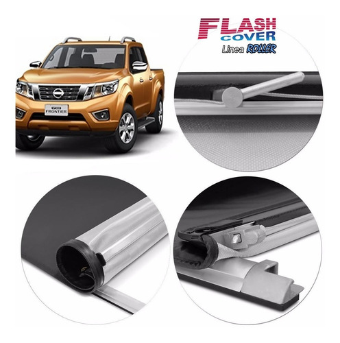 lona flash cover roller nissan frontier 2016 2017 2018 2019