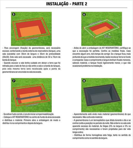 lona geomembrana de pead 0,8mm tanque peixe lagos 4 x 4 mts