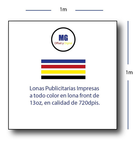 lona impresa 13oz calidad 720dpis urgentes m2