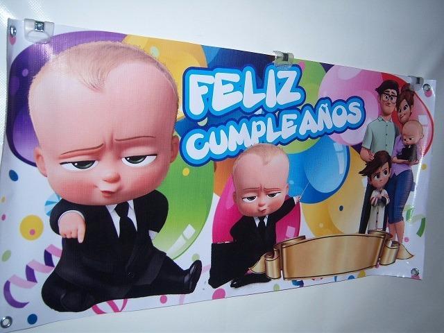 Lona Impresa 1m 50cm Fiesta Cumpleaños Un Jefe En Pañales $ 199 00 en Mercado Libre