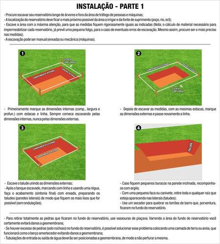 lona manta geomembrana 0,5mm tanques peixes lagos 5,9 x 13