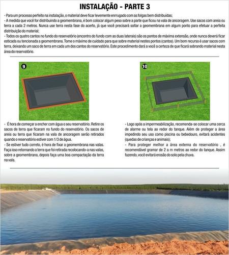 lona manta geomembrana pead 0,3mm tanques lagos  4 x  3