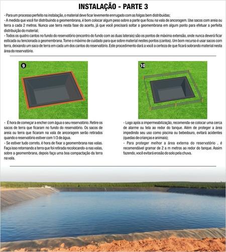 lona manta para tanque peixe geomembrana de pead 0,5mm m²
