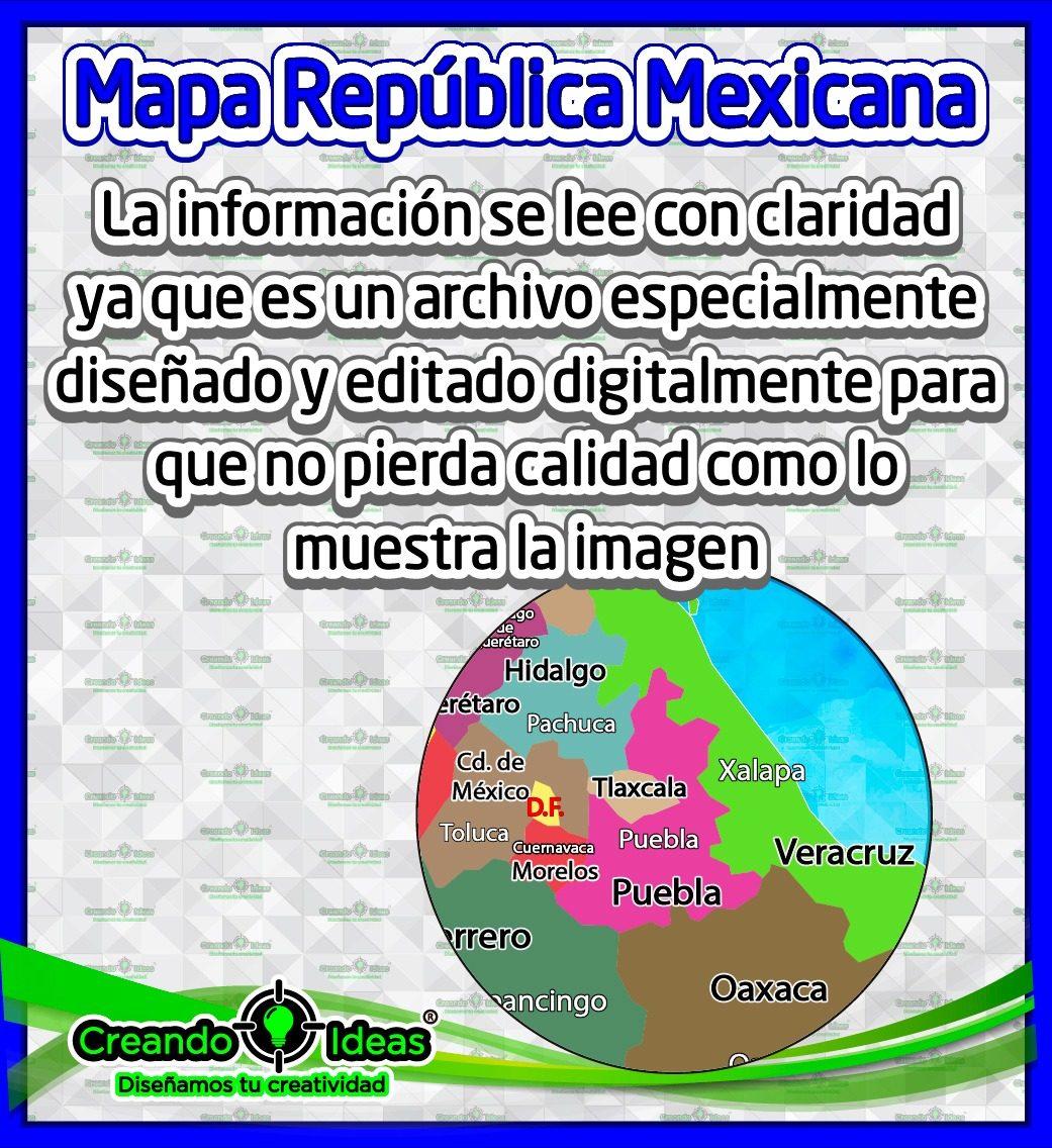 Lona Mapa Republica Mexicana Creandoideasveracruz 199 00 En