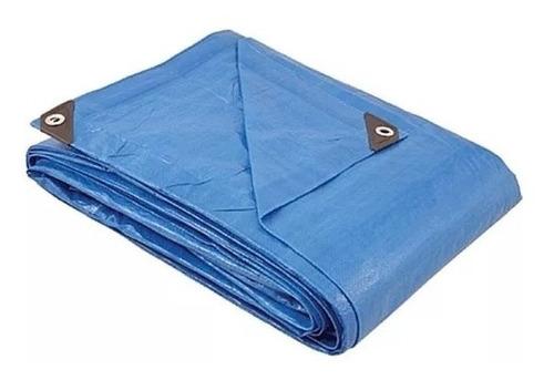 lona multiuso polietileno azul 5x7 g90 encerado impermeável