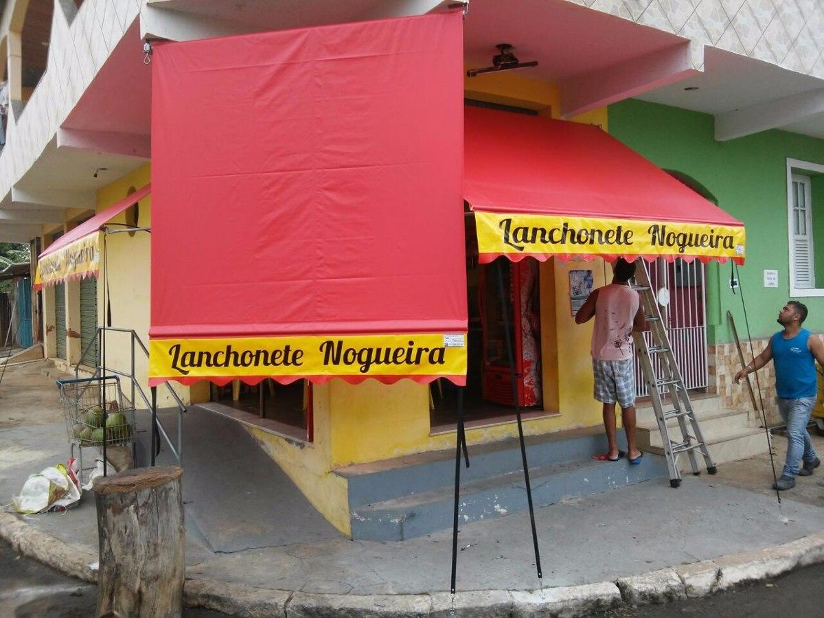 Lona para toldo 2 x 1 4 cortina retr til garagem cobertura for Lona para toldo
