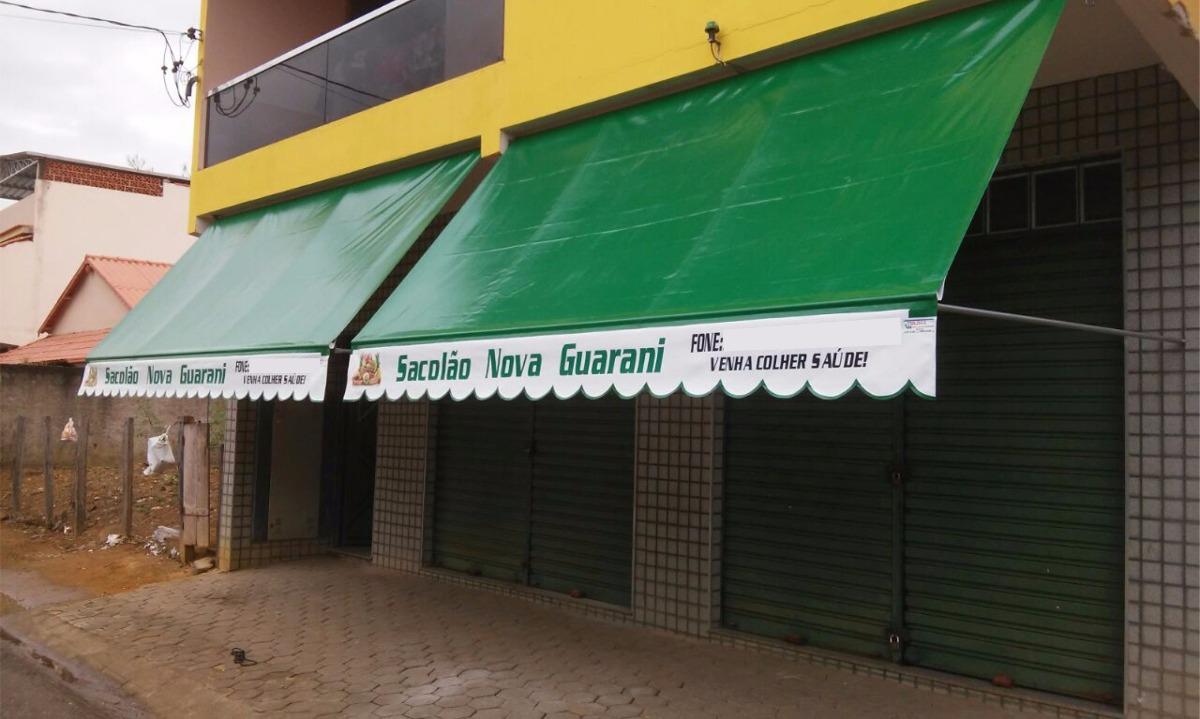 Lona para toldo 2 x 1 4 cortina retr til garagem cobertura for Carriles de aluminio para toldos
