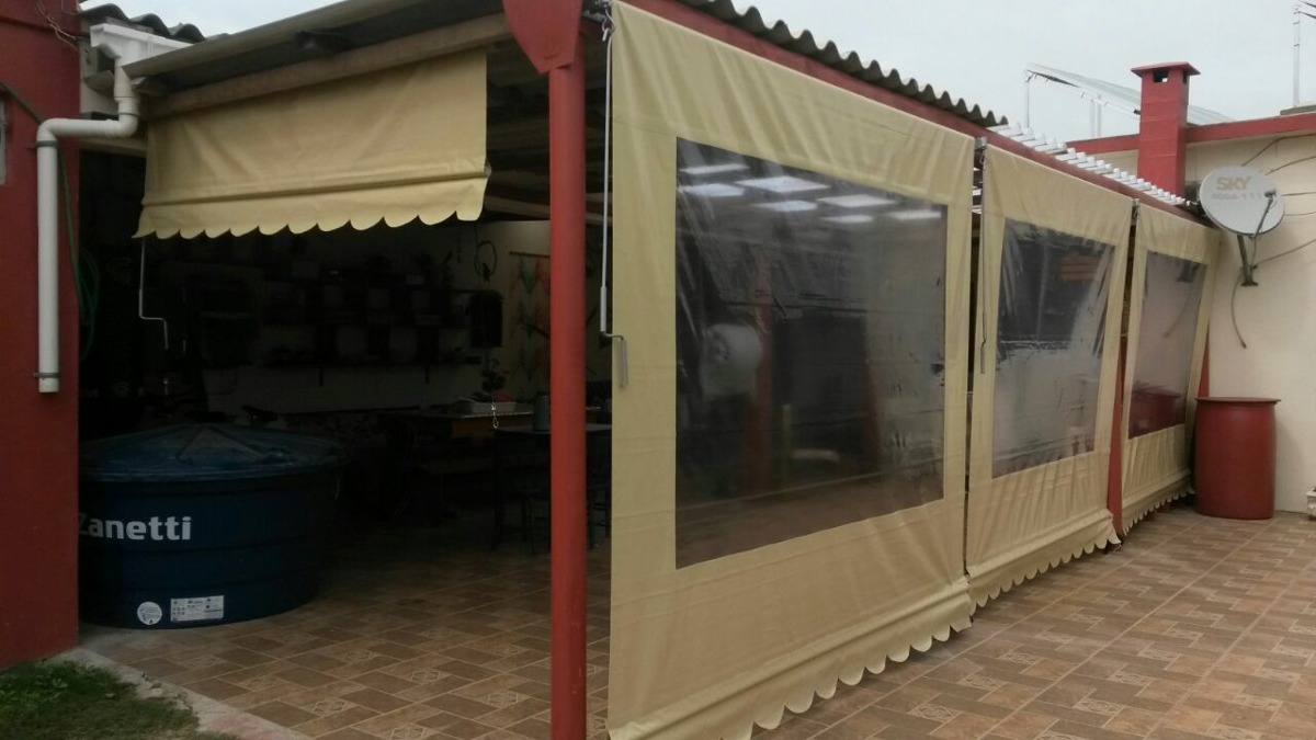 Lona para toldo cortina retr til de enrolar fabrica o m for Lona de toldo por metros