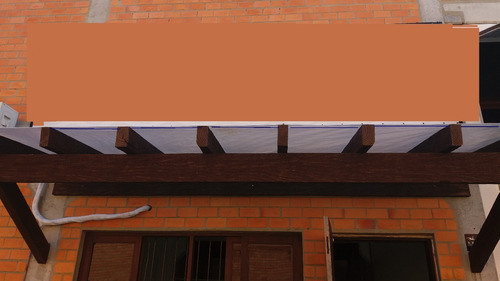 lona pergolado translucida 3,6x3,6 mts