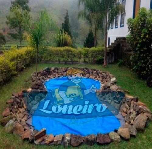 lona plástica azul 7x4 lago tanque peixes cisterna 300micras
