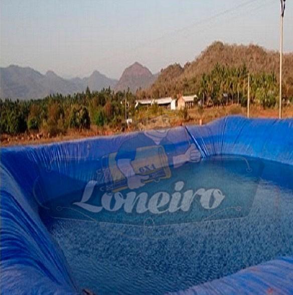 Lona pl stica azul redonda 8 5m lago tanque piscina for Lona piscina redonda