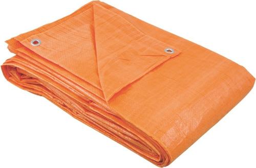 lona plástica piscina toldo 8x7m 70g 100 micras laranja full