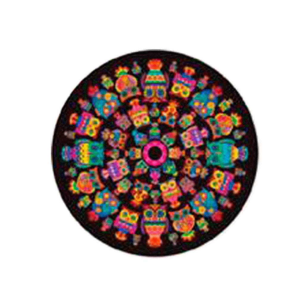 Lona Playera Con Forma Diseño Mandala Buhos 71000 En Mercado Libre
