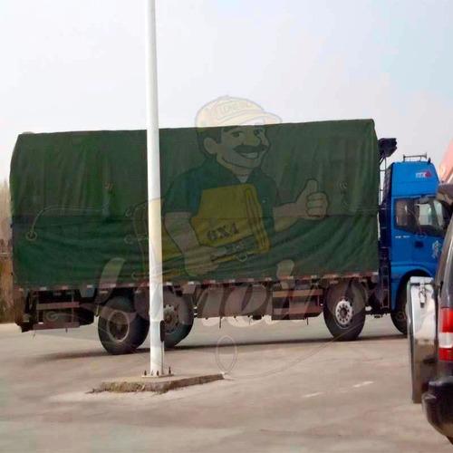 lona premium 10,5x5 encerado argolas ripstop verde caminhão