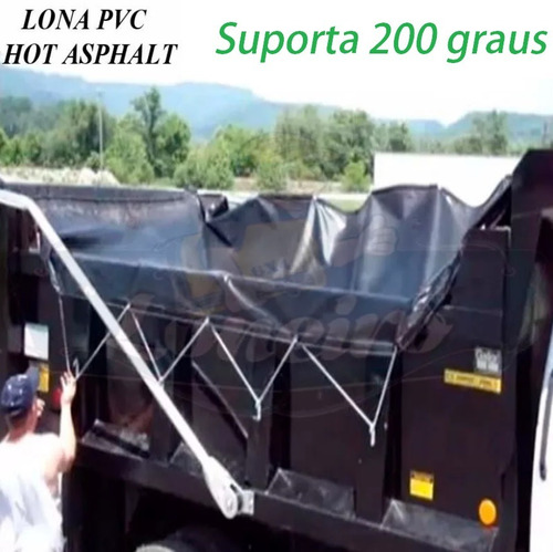 lona pvc 5,5 x 3,0 transporte massa asfáltica quente betume
