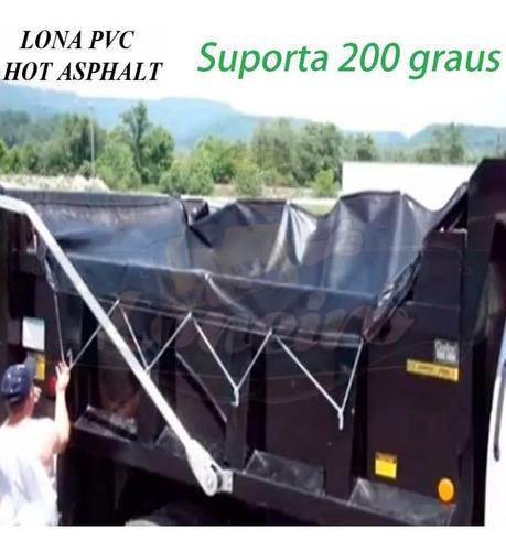 lona pvc 5,5x3,5 mt transporte betume massa asfáltica quente