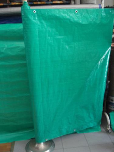 lona rafia reforzada para cerco con ojales metalicos 2mts