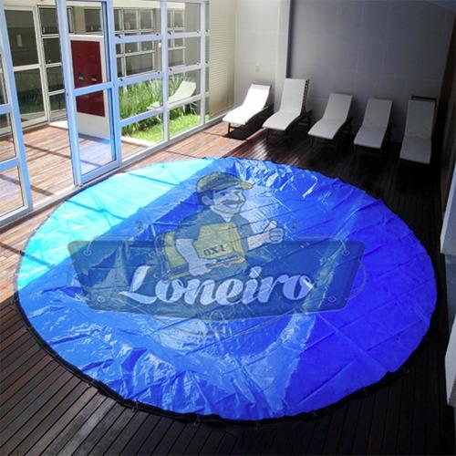 lona redonda 9,5 metros capa piscina lago tanque psicultura
