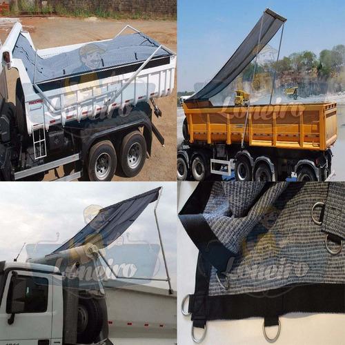 lona tela pead super 800 micras caminhão enlona carga 6x6 mt