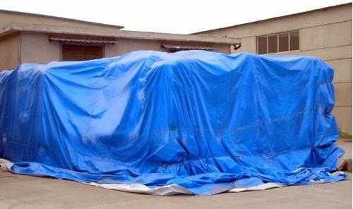 lona tipo carreteiro encerado reforcada 5 x 4 m azul amarela