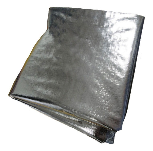 lonaplástica poly metalizada refletiva 2x5 metros 300 micra
