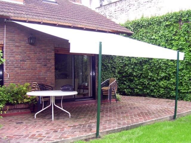 Toldos para patios prgola estrella de aluminio y xm gris - Toldos para patios interiores ...