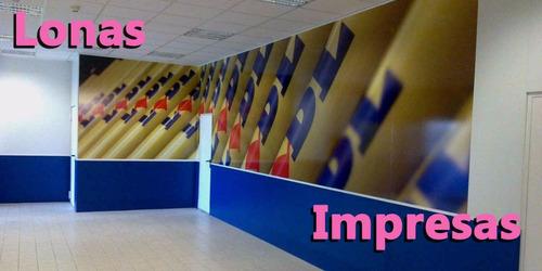 lonas impresas a todo color $45 m2 colores vibrantes