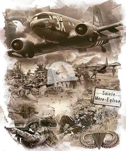 lonas p/ moldura de quadro segunda guerra brasil/airborne a2