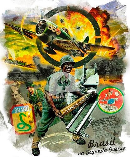 lonas p/ moldura de quadro segunda guerra brasil/airborne a3