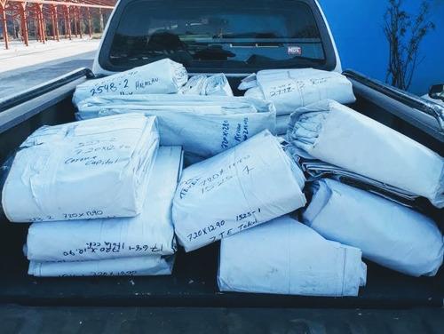 lonas reciclada pvc 12.8 x 7.2 mts calidad y precio