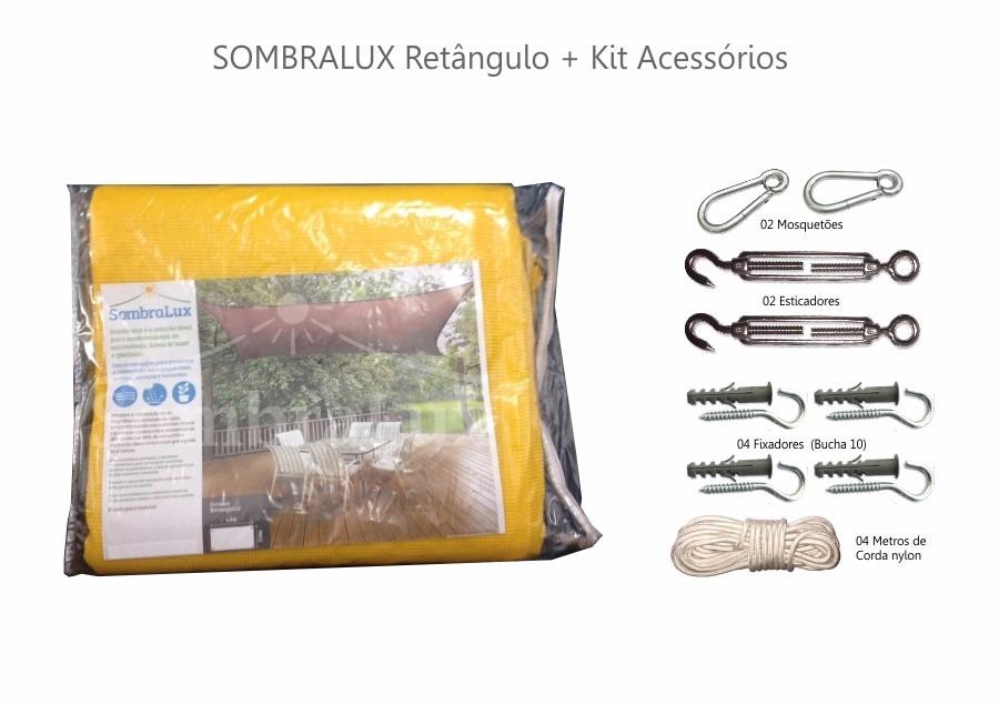 Lona,toldo,capa,tela D Sombreamento Retangulo+kit Instalacao - R ...