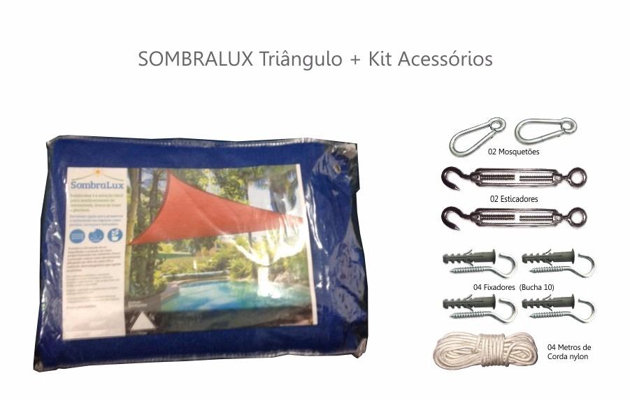 Lona,toldo,capa,tela / Sombreamento Triangulo+kit Instalacao - R ...