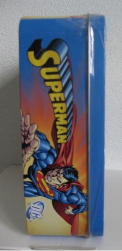 lonchera de superman y jla con rompecabezas de 500 piezas