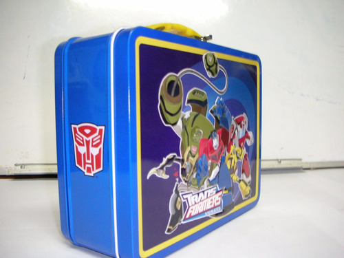 lonchera metalica transformers animated