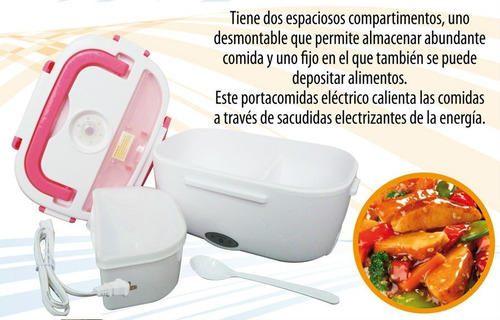 lonchera porta comida eléctrica sonivox original con cuchara