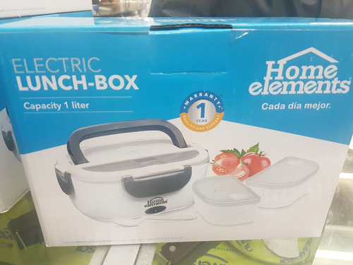 lonchera porta comidas electrica home element garantia 1 año